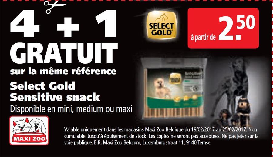 4+1 gratuit Select Gold Sensitive