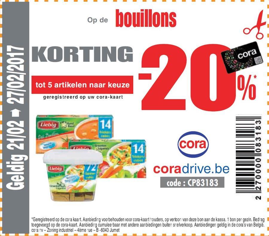 20% korting op bouillons