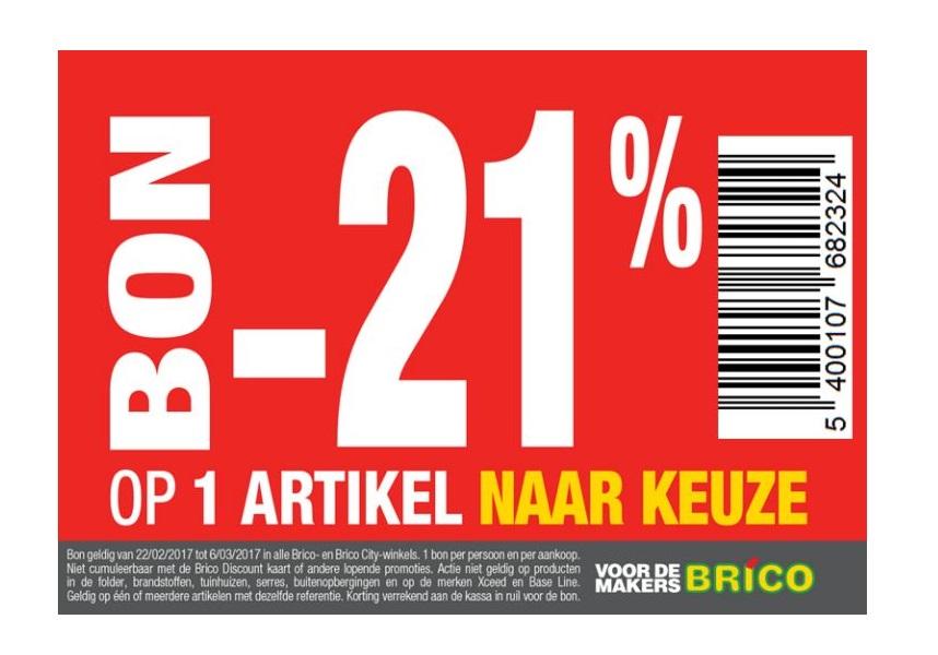 -21% op 1 artikel naar keuze