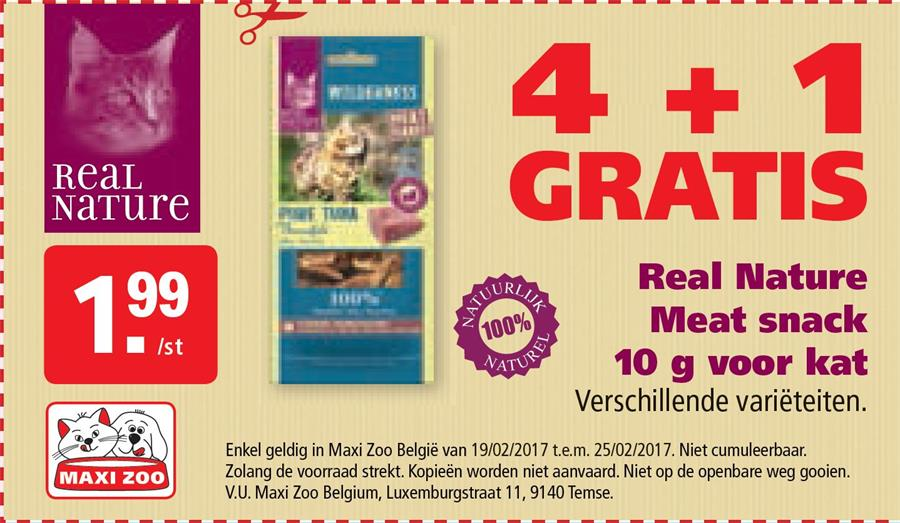 4+1 gratis Real Nature Meat snack