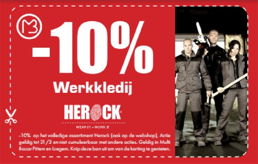10% op werkkledij Herock