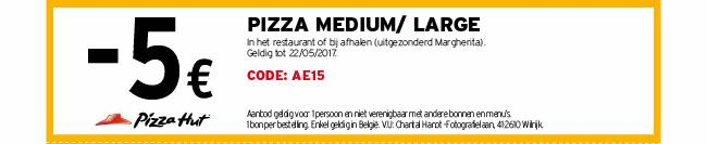 -5€ medium of large pizza