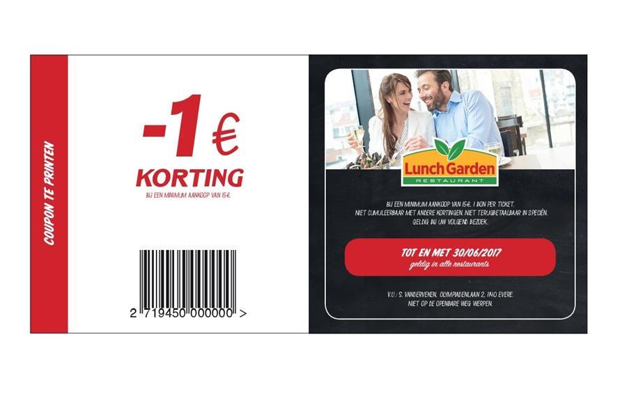 -1€ korting bij 15€