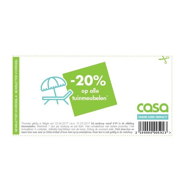 20% op alle tuinmeubelen