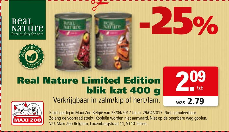-25% op real nature Limited edition