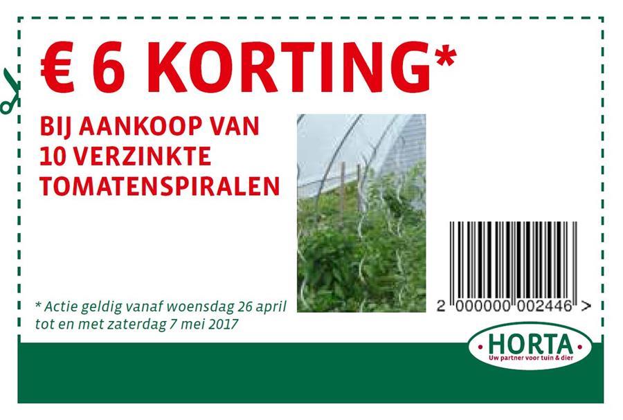 €10 korting bij aankoop van tomatenspiralen