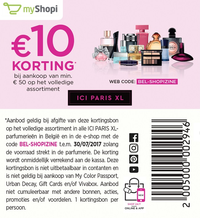 €10 korting bij aankoop van €50