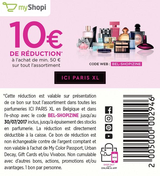 -10€ de réduction à l'achat de 50€
