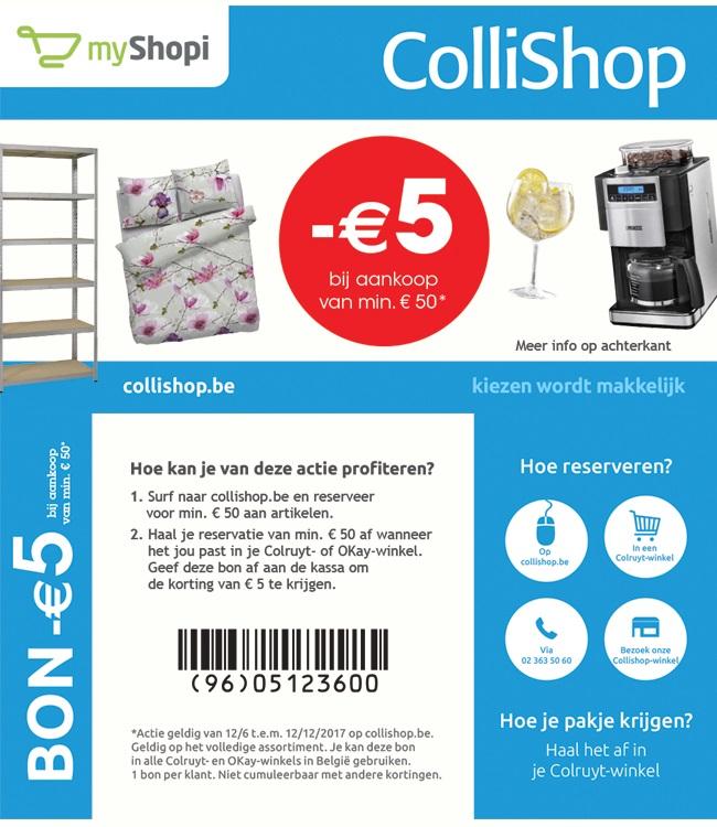 -€5 bij aankoop van €50