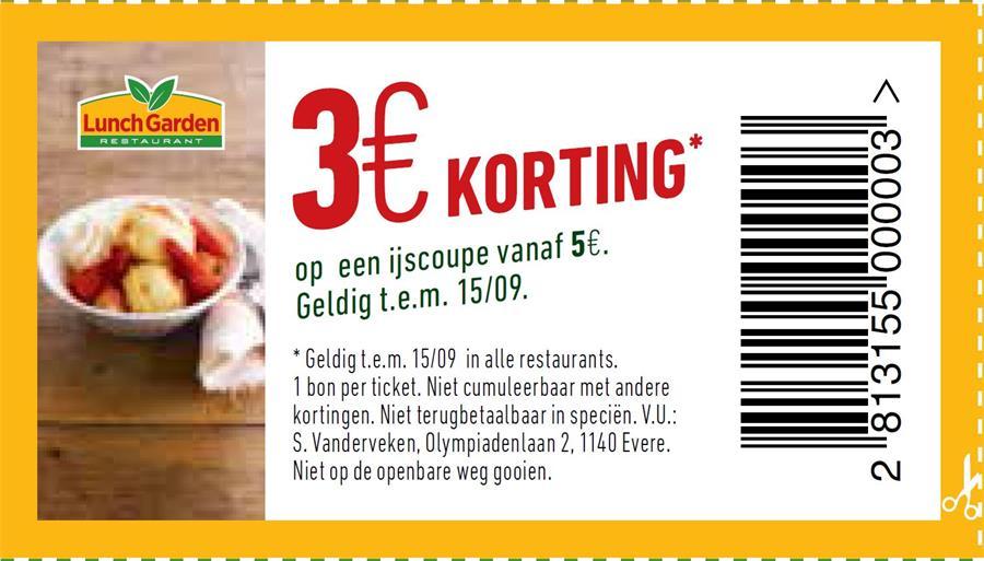 3€ korting op ijscoupe
