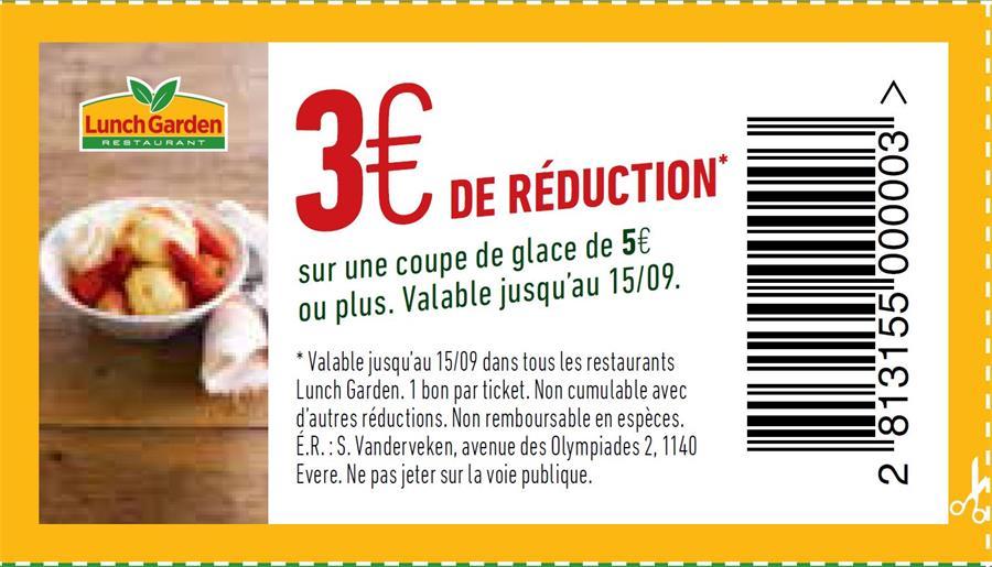 3€ réduction sur une coupe de glace