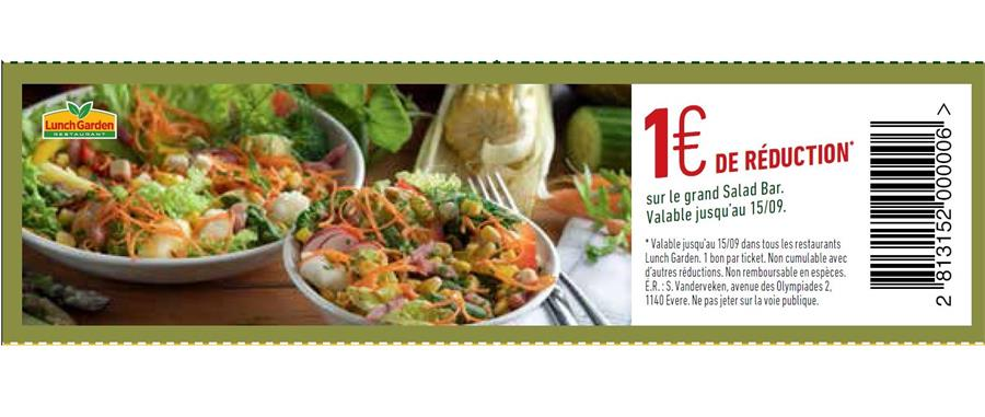1€ reduction sur le salad bar