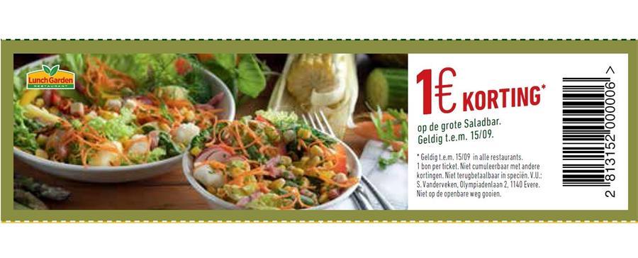 1€ korting op saladbar