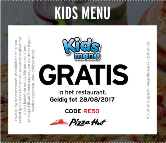 Gratis kids menu