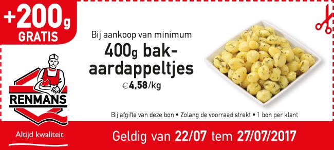 200 gratis bakaardappeltjes