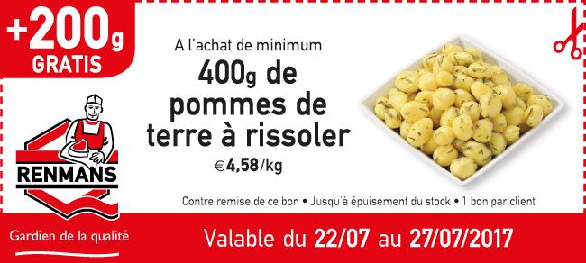 200gr gratis pommes de  terre