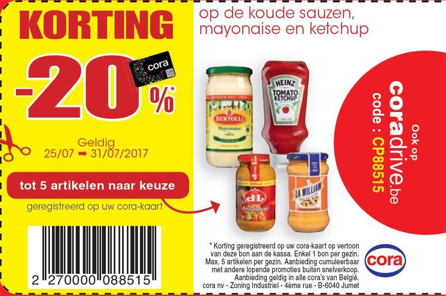20% op sauzen