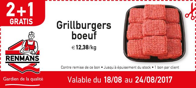 2+1 gratis grillburgers boeuf