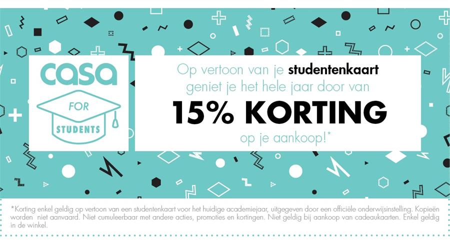 15% studentenkorting